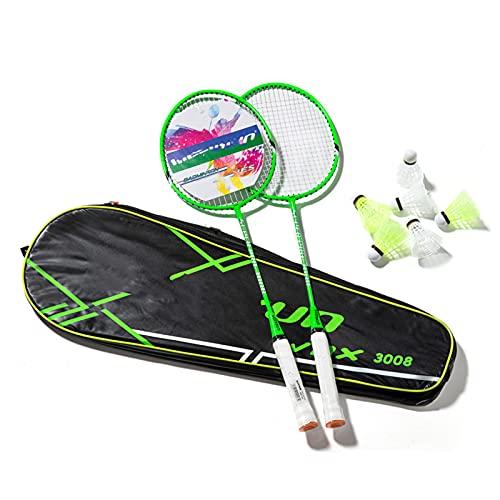 SXTYMV Set di Racchette da Badminton 2 Racchette da Badminton 1 Custodia per Il Trasporto 6 Palline Adatte per la Scuola Sport all'Aria Aperta Giardino Spiaggia