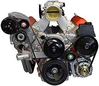 ICT Billet LS1 Camaro A/C Air Conditioner Compressor Sanden 7176 Bracket Kit LS LSX AC 551352-2