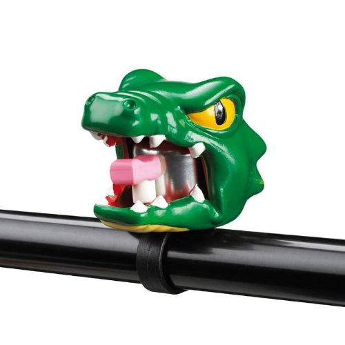 Crazy Stuff Kinder Fahrradklingel Krokodil, grün