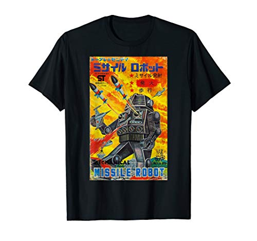 Vintage Graphic Missile Robot Japanese Retro Old Toy Anime T-Shirt