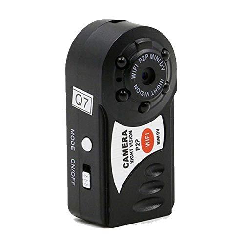 PANNOVO Mini WiFi spiare senza fili videocamere, portatile IP P2P nascosto videocamera visione notturna ad infrarossi Videoregistratore Wireless