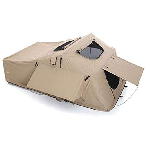 Smittybilt Overlander XL Roof Top Tent (2883) - Folder With Bedding - Coyote Tan