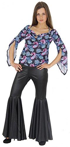 Foxxeo 40139 |70er Jahre Hippiekostüm Kostüm Hippie für Damen Flower Power Damenkostüm Blumenkinder, Größe:XXL