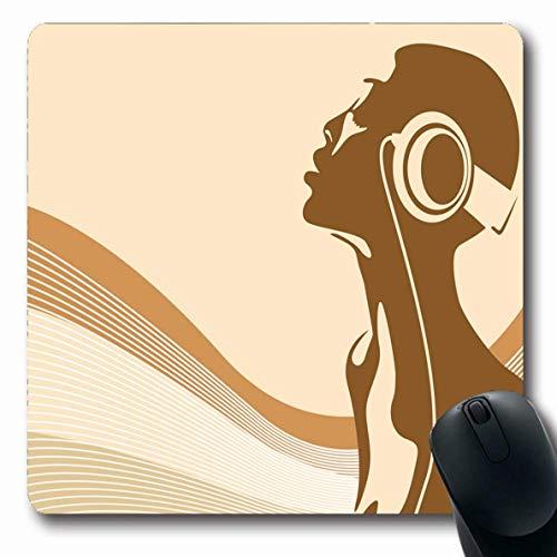 Luancrop Mousepad Discoteca Africana Resumen Escuchar Música Frecuencia Groove Ecualizador Relax Rock Diseño Tecnología Alfombrilla de ratón Goma Antideslizante para portátil PC portátil Computadora
