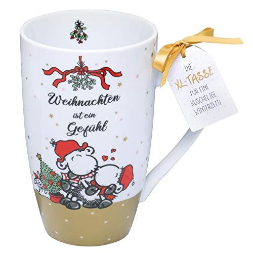 Sheepworld 49831 - Taza de café (porcelana, 50 cl)
