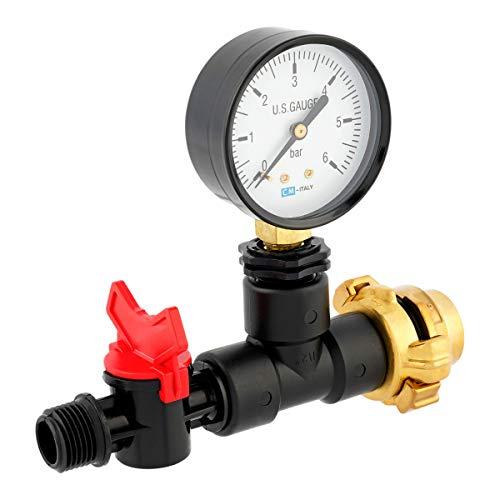 REKUBIK Messgerät mit Manometer für Wassermenge Druck/Durchfluss