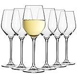 Krosno Petite Verre à Vin Blanc | Lot de 6 | 200 ML | Collection Splendour | Parfait la Maison, Les Restaurants, Les Fêtes | Lave-Vaisselle et Micro-Ondes