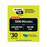 Straight Talk $30 30 Day Service Card (Basic phones only; No smartphones)