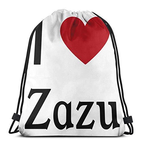 Lawenp I Love Zazu Mochila con cordón Cinch Poliéster a Granel Bolsas de Hilo Impermeables para Deportes Gimnasio Yoga Natación Viajes