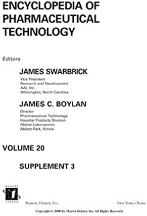 encyclopedia of pharmaceutical technology pdf free download