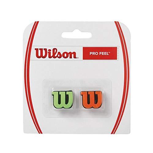 Wilson Pro Feel Raqueta, Unisex Adulto, Verde/Naranja, Talla Única