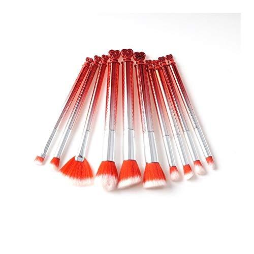 WFBD-CN Pinceau de Maquillage Maquillage Pinceaux Professionnelle 10Pcs Fin synthétique Fondation Ombre à paupières Maquillage Brosses Eyeliner Brush Sets Outils Jeu de Pinceau de Maquillage