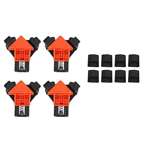 【𝐅𝐫𝐮𝐡𝐥𝐢𝐧𝐠 𝐕𝐞𝐫𝐤𝐚𝐮𝐟 𝐆𝐞𝐬𝐜𝐡𝐞𝐧𝐤】4-teilige Klemmen Eckhalter Winkelclip, Hardware-Zubehör Rechteckklemme, kleine Schränke für Einhandbedienung Zusammenbau von Regalrahmen