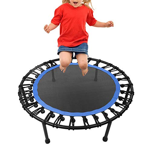 Trampoline, 39Inch Outdoor Mini Toddler Rebounder Trampoline, Indoor Small Trampoline for Kids/Adult, Safe/Portable/Durable Trampoline Springs for Kid Exercise & Play(Blue)