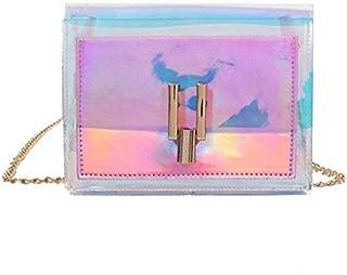 Gimax Top-Handle Bags - Hot Women Crossbody Bag Laser Holographic Casual Shoulder Bags PVC Messenger Chain Crossbody Handbags - (Color: b)