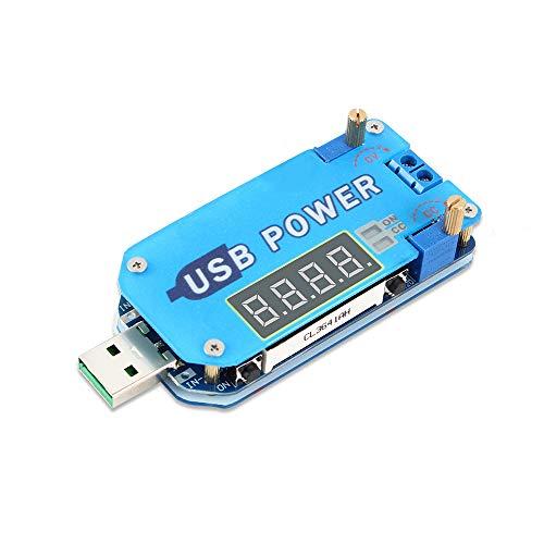 PEMENOL 15W DC-DC Boost-Buck Einstellbares USB-Spannungsversorgungsmodul, LCD Step Up/Down Modul für Abwärts Gerichtete CVCC-Spannungserhöhungs-Spannungswandler mit Gehäuse