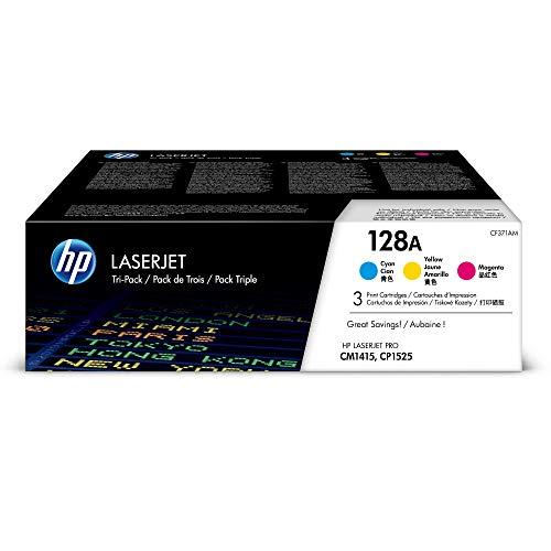 HP 128A 3er Pack CF371AM BlauGelbRot Original Toner fur HP Laserjet Pro CP1525 HP Laserjet Pro M1415