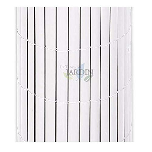 Suinga Cannone di copertura bianco PVC 2x5 m, per giardini, terrazze e balconi, bianco