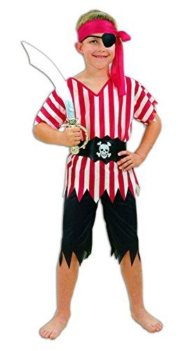 Garçons pirate, Stripey, Costume de déguisement, de l'âge 7-9
