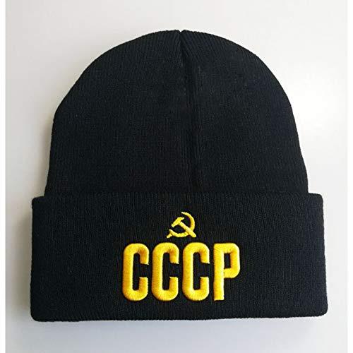 DDMGB Beanie Mütze CCCP Brief Meow Cap Männer Frauen Casual Hip Hop Hüte Gestrickte Beanies Hut Warme Wintermütze Für Frauen Beanie