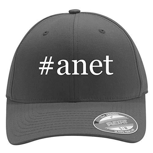 #anet - Men's Hashtag Flexfit Baseball Cap Hat, Silver, Large/X-Large