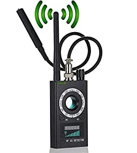 High Sensitivity Spy Detector & Magnetic Signal Scanning Hidden Camera Lens Detection RF Signal Detector Wireless Signal Bug Detector for GSM Listening&Tracking Device Finder