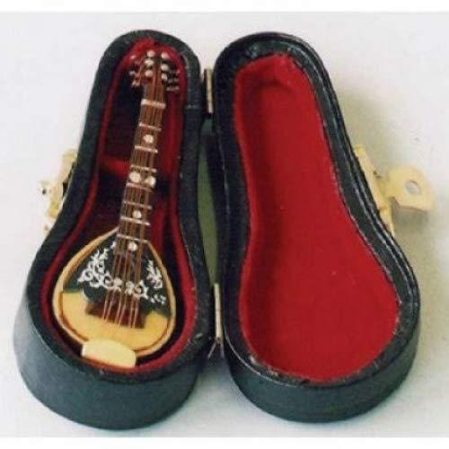 Dolls House Miniature Maison De Poupée 1 : 12, Style Accessoires, mandolien dans Un étui Noir, Miniature