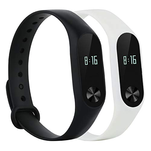 honecumi Replacement Band Compatible Xiao Mi Band 2 Wristband Xiaomi 2 Watch Strap/Band/Bracelet for Men & Women-Colorful Bands for Xiao Mi 2 Bands Sport Replacement Accessory Bands (No Tracker)