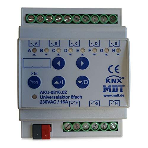 MDT KNX Universal Schaltaktor 8-fach / 4TE / 16A / 230V (AC)  AKU-0816.02