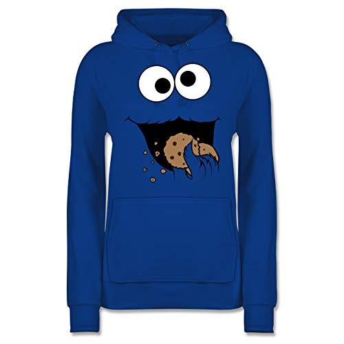 Karneval & Fasching - Keks-Monster - XL - Royalblau - keks Monster kostüm - JH001F - Damen Hoodie und Kapuzenpullover für Frauen