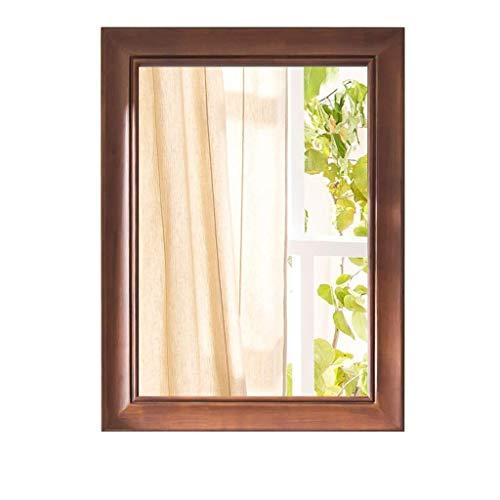LLG Household Items& Wohnzimmer Spiegel Uhren Wand Großes Holzes, Shabby Chic Schwemmholz Spiegel mit Regal montiert Spiegel Badezimmerspiegel (Farbe: braun) (Color : Brown)