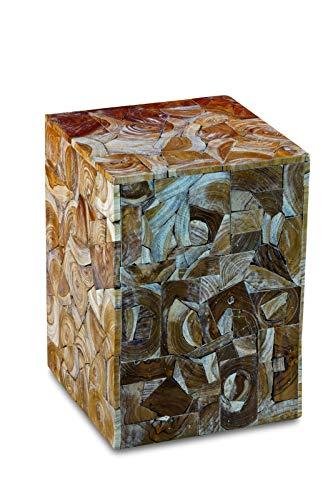 Wurzelholz Beistelltisch ROI YOT aus Teak Holz Stücken - geeignet als Podest, Blumenständer oder Nachttisch für Wohnzimmer, Flur, Diele, Schlafzimmer oder auch Wintergarten