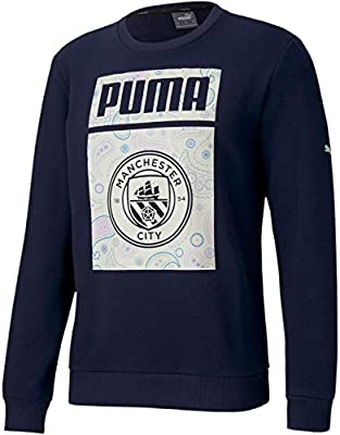 World Cup Soccer MANCHESTER CITY Mens MANCHESTER CITY FTBLCORE GRAPHIC SWEATER, Peacoat-Whisper White, S