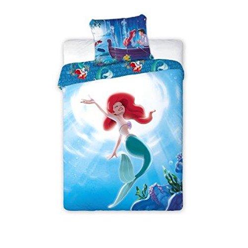 SaYes Ariel 059 - Juego de ropa de cama de 2 piezas (160 x 200 cm, funda de almohada de 70 x 80 cm), diseño de princesa