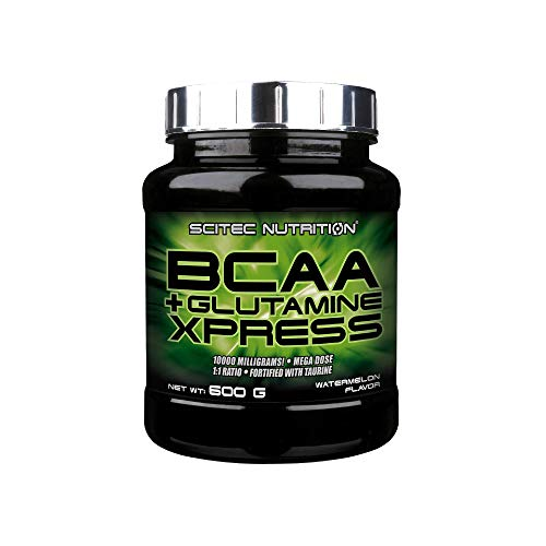 Scitec Nutrition BCAA + Glutamine Xpress, Fortified with Taurine, Sugar Free, 600 g, Watermelon