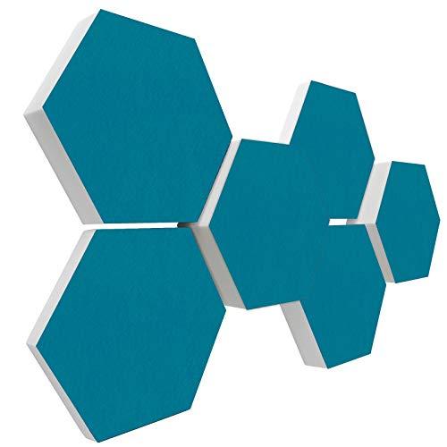 Basotect G+ Schallabsorber 3D-Set < 6 Elemente Ø30cm > Diverse Farben (PETROL)