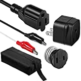 Dreyoo Circuit Breaker Finder Adapter Accessory Kit, Circuit Breaker Leads Tester with Clips, Light Socket, 3-2 Prong Grounding Outlet Adapter and Carrying Case Compatible with ET300 ET310