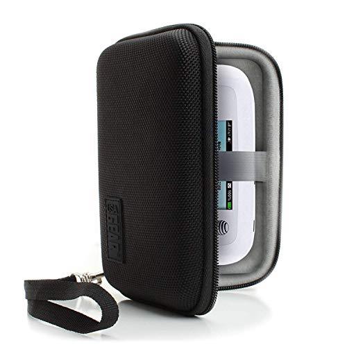 USA Gear Hotspot WiFi Portatile per Custodia da Viaggio con Cinturino da Polso - Compatibile con hotspot mobili Wi-Fi 4G LTE di Verizon, Velocity, Skyroam Solis, GlocalMe, Netgear e altro - Nero