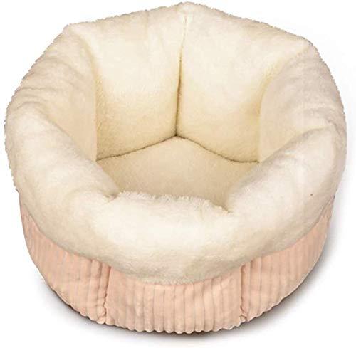 CVXCVCBCG Khaki zachte pluche huisdier-bedkussen, anti-slip wasbaar in de wasmachine, zelfs warme huisdierbedden