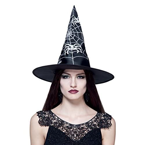 Boland- Cappello Strega Witch Weave per Adulti, Nero/Bianco, Taglia Unica, 96952