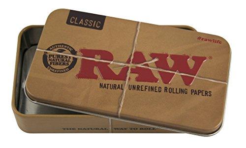 RAW - Caja de lata (9,4 x 6 x 2,8 cm), 9.4 x 6 x 2.8cm