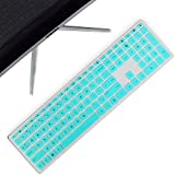 Lapogy Keyboard Cover Skin for hp Pavilion 27 All in One Pc,27 Xa0055Ng/0370Nd/0076Hk/0010Na, 24 inch,24 Xa0002A/0300Nd/0051Hk,hp Wireless Keyboard Combo 800,hp Pavilion All in One Accessories,Mint