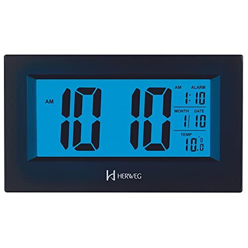 Relógio Despertador Digital Herweg Alarme Termômetro 2972 034