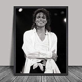 Pop Rock muzyka legenda gwiazda piosenkarka taniec król Michael Jackson czarno-białe zdjęcia HD obraz na płótnie sztuka śc...