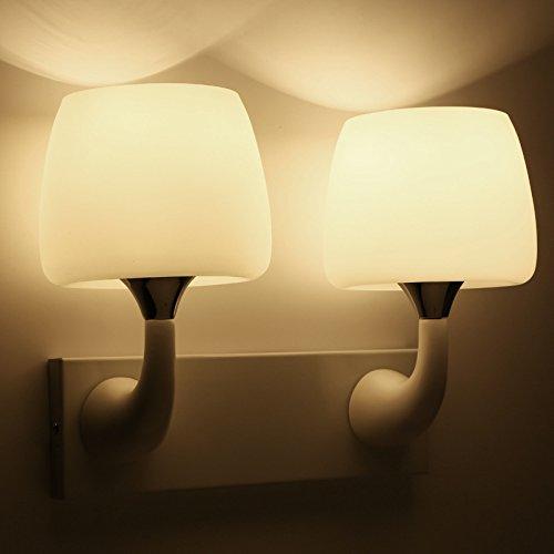 Witte eenkoppige dubbele koppen eenvoudige wandlamp van de paddenstoelen witte glazen lampenkap geleid bedlamplampje badkamer-corridorlamp