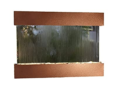 Reflection Creek Water Feature with Woodland Brown Trim and Square Edges
