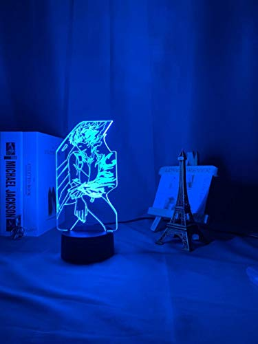 Gift for boys New 2021 Lámpara 3D acrílica Anime My Hero Academia Shoto TODOROKI para dormitorio, decoración de noche infantil, regalo de cumpleaños, manga LED, luz nocturna