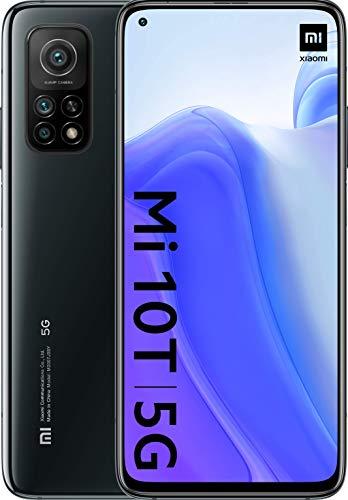 "Xiaomi Mi 10T (Pantalla 6.67"" Fhd+ Dotdisplay, 6Gb+128Gb, Cámara de 64Mp, Snapdragon 865 5G, 5.000Mah Comcarga 33W) Negro Cósmico [Versión Española], Comalexa Hands-Free"