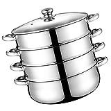 Cabilock - Pentola a vapore a 4 animali, in acciaio inox, 11 pollici