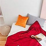 Usable Manta Adultoos, Ultra Felpa Super Suave Cálida Manta con Mangas Y Bolsillo para Los Pies Lisa Cosy Batamanta para Adulto Las Mujeres Hombres-Rojo 145x155cm(57x61inch)